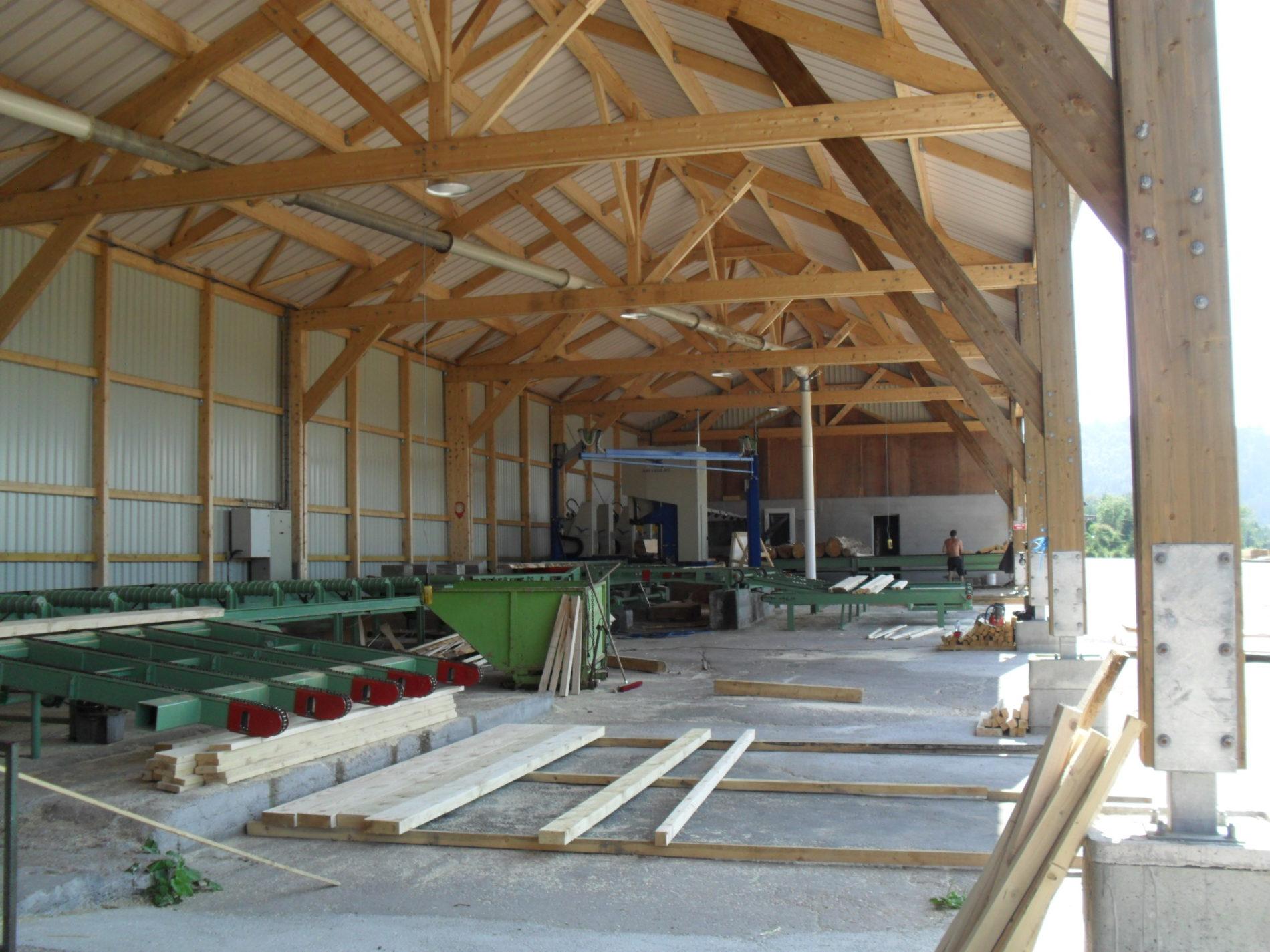 Rénovation d'une scierie - Bâtiment industriel