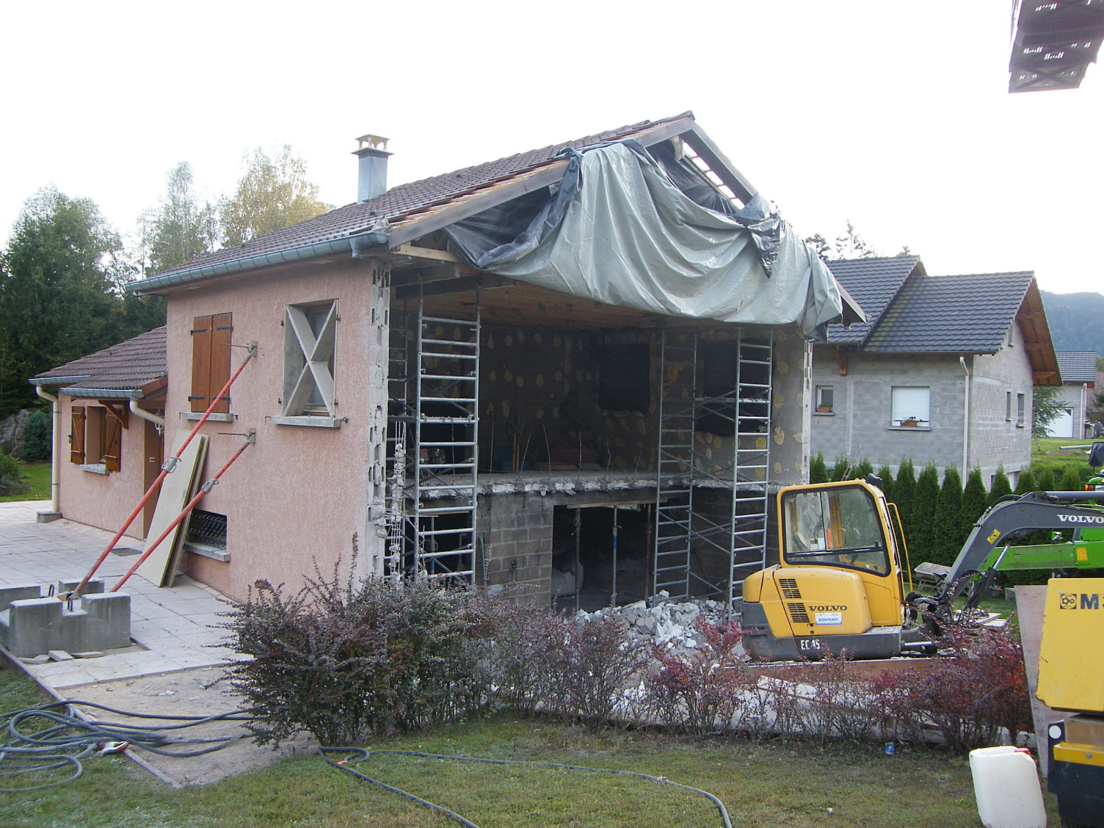 Rénovation d'un maison d'habitation après sinistre